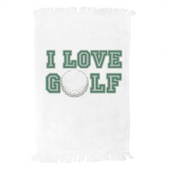 I Love Golf Towel