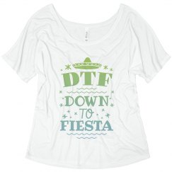 Custom Flowy DTF Cinco Tee