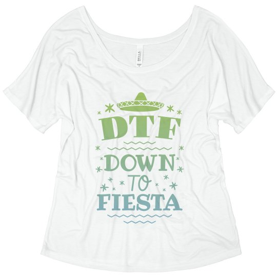 278b1fb2 Custom Flowy DTF Cinco Tee Ladies Flowy Slouchy T-Shirt