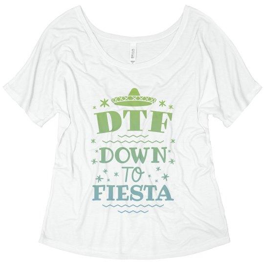 676dfd47b Custom Flowy DTF Cinco Tee Ladies Flowy Slouchy T-Shirt