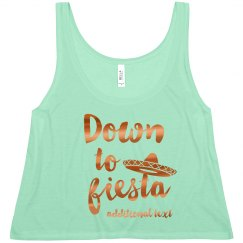 Metallic Down To Fiesta Crop