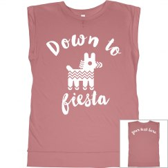 Down To Fiesta Muscle Tank