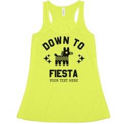 Down To Fiesta Custom Crop