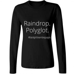 Raindrop. Polyglot. Tee up to 4X