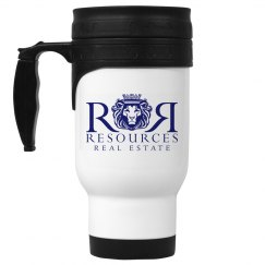White Travel Mug