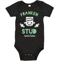 Franken Stud Halloween Onesie