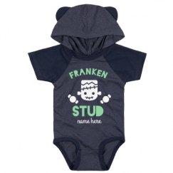 Infant Hooded Raglan Bodysuit with Ears