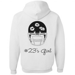 Inexpensive Trendy Custom Football Girlfriend Hoodies