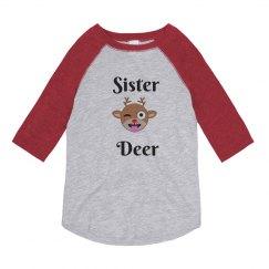 Sister Deer Custom Christmas Pajamas Shirt