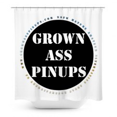 www.GrownAssPinups.com Shower Curtain