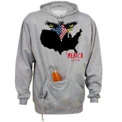 Unisex Eagle Eyes 'Merica Country Hoodie