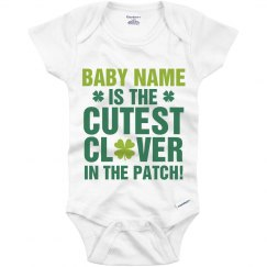Custom Cutest Clover Irish Baby