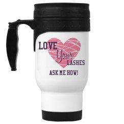 Love Your Lashes mug