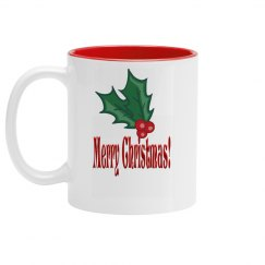 Merry Christmas Holly Mug