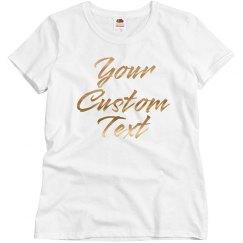 Metallic Custom Pajama Top