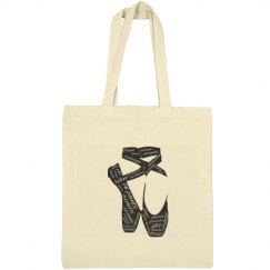 en pointe canvas tote