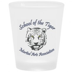 Frosted Shot Glass with Logo