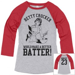 Funny Softball Mom Heckler Custom Jersey With Number