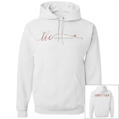 TLC White & Rose Gold Diamond Hoodie