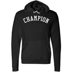 Black and White Champion unisex Pull-over Fleece Hoodie
