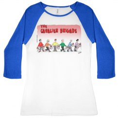 Ladies Slim Fit 3/4 Sleeve Raglan Tee s- 2x