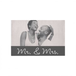 Mr. & Mrs. Couples Custom Rug