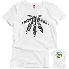 Stoner Zebra Print Ganja Leaf Dopey Tshirt