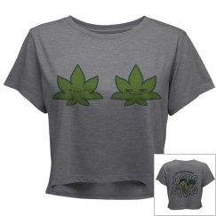 Cute Stoner Twins Crop Shirt