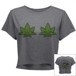Cute Stoner Twins Crop Shirt