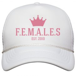 Females trucker hat white trim