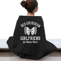 A Gridiron Football Girlfriend Blanket With Custom Name