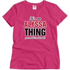Alyssa thing