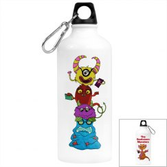 The Bookworm Monsters water bottle all