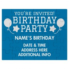 Custom Birthday Puzzle Invitation