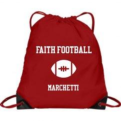 Faith Football Drawstring