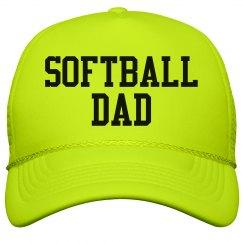 Neon Hat Softball Dad Fan