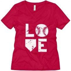 Baseball Love - Red  T-shirt