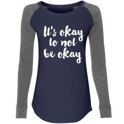 It's Okay- Navy/ Long sleeve