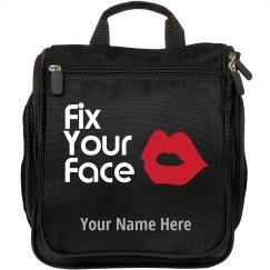 Fix Your Face Custom Name Makeup Travel Bag