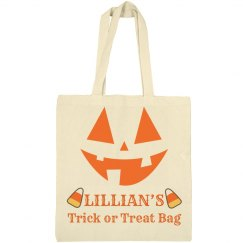 Lillian's trick or treat bag