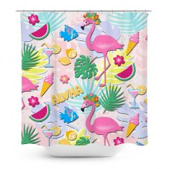 Aloha Pink Flamingo Holiday All Year Long