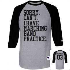 Marching Band Practice Custom Shirt With Back