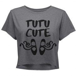 TU TU Cute Ballerina Slippers Crop Shirt