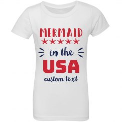 Mermaid in the USA Custom Girls Ruffle Tee