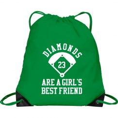 Softball Diamonds Friend Bag With Custom Number