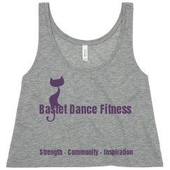 Bastet Dance Fitness - Slogan Flowy Crop Tank