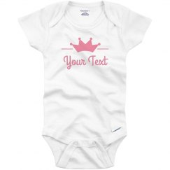 Custom Text With Princess Crown