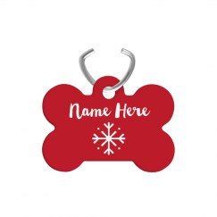 Custom Christmas Dog Bone Tag