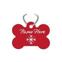 Custom Christmas Dog Bone Tag