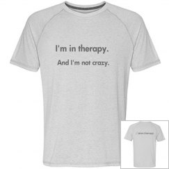 mens not crazy workout tee